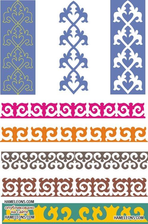 Картинки рамки для фотошопа казахский орнамент014