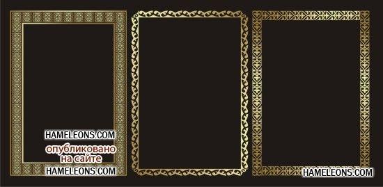 Картинки рамки для фотошопа казахский орнамент016