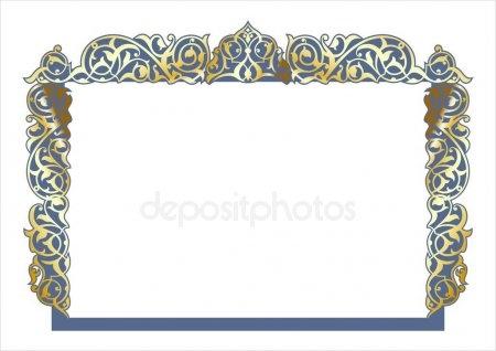 Картинки рамки для фотошопа казахский орнамент017