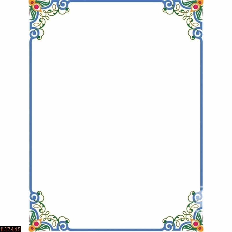 Картинки рамки для фотошопа казахский орнамент019