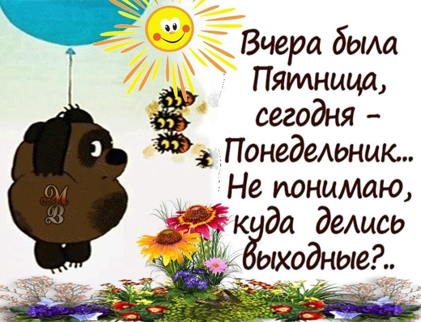Картинки смешные с понедельником и удачной недели003