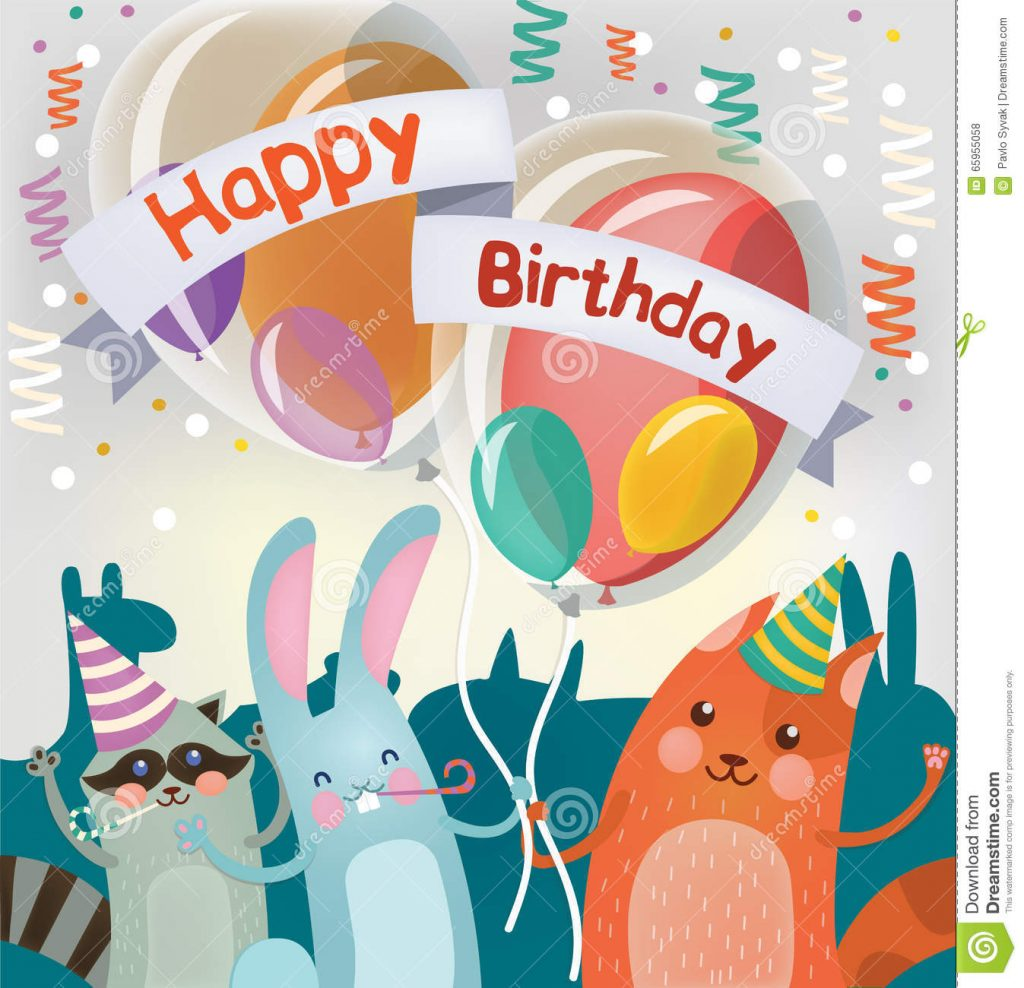 Картинки с днем рождения - фото животных (10)