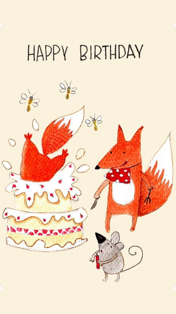 Картинки с днем рождения - фото животных (12)