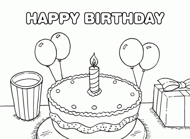Картинки с днем рождения черно-белое фото003