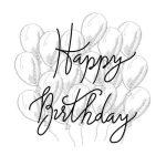 Картинки с днем рождения черно-белое фото