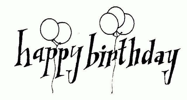 Картинки с днем рождения черно-белое фото020