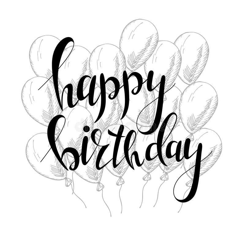 Картинки с днем рождения черно-белое фото022