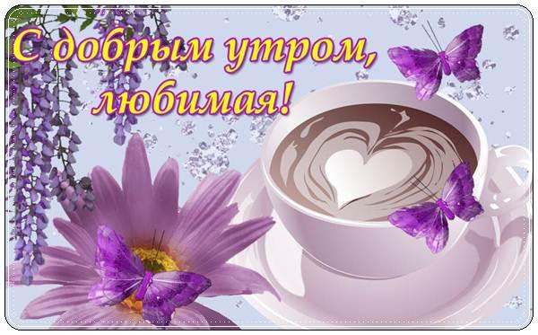 Картинки с добрым утром и хорошего дня любимая (11)