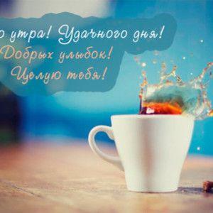 Картинки с добрым утром и хорошего дня любимой (9)