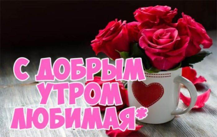Картинки с добрым утром любимая, я люблю тебя (8)