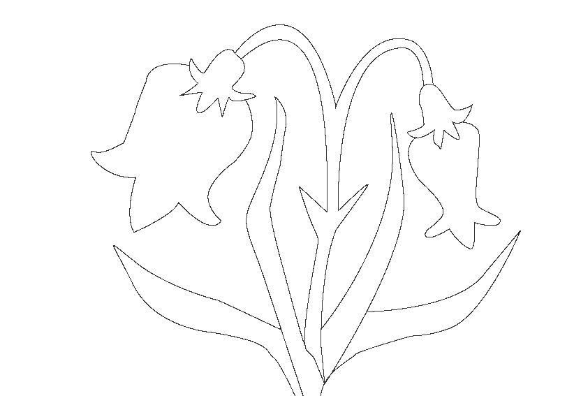 Картинки трафарет цветы колокольчики001