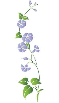 Картинки трафарет цветы колокольчики002