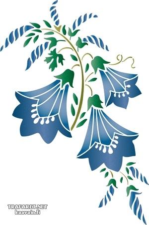 Картинки трафарет цветы колокольчики011