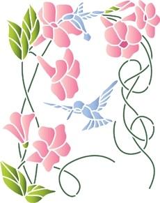 Картинки трафарет цветы колокольчики013