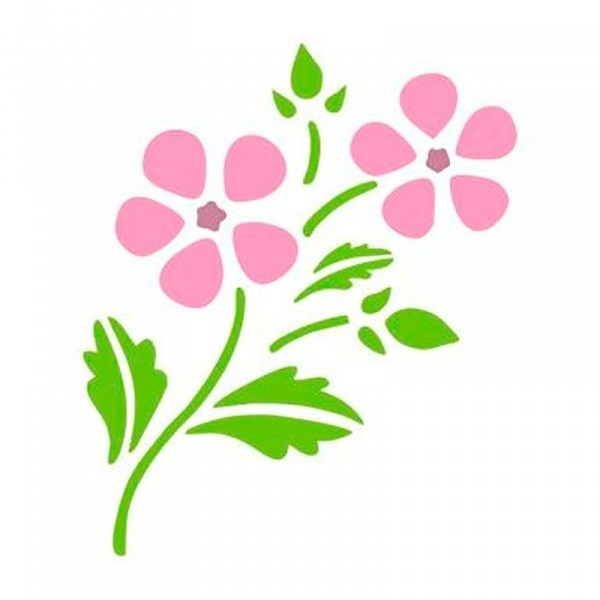 Картинки трафарет цветы колокольчики014