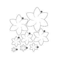 Картинки трафарет цветы колокольчики016