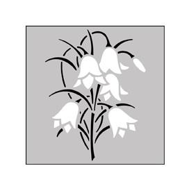 Картинки трафарет цветы колокольчики019