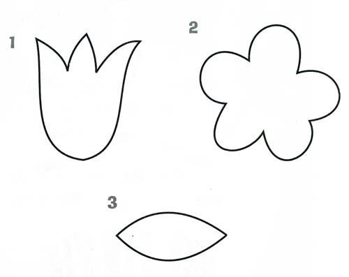 Картинки трафарет цветы колокольчики020