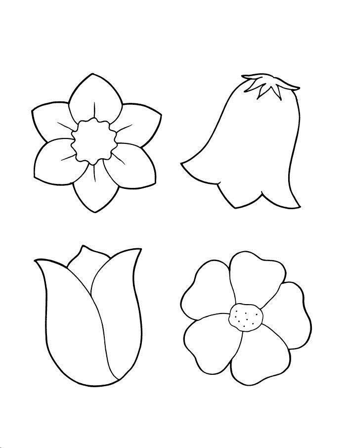 Картинки трафарет цветы колокольчики021