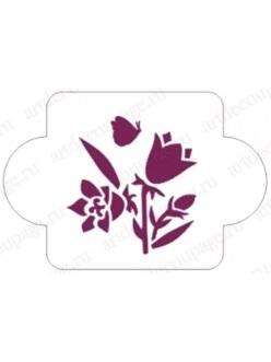 Картинки трафарет цветы колокольчики022