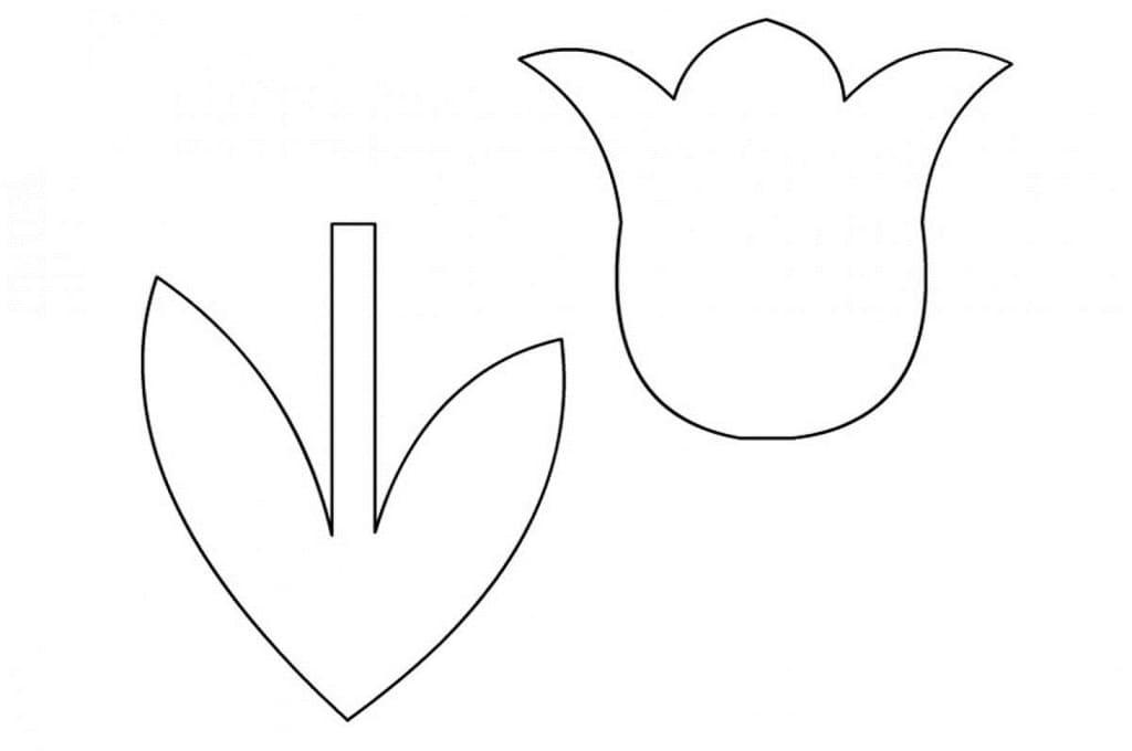 Картинки трафарет цветы колокольчики024
