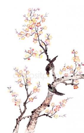 Китайские цветы рисунки и картинки001