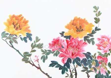 Китайские цветы рисунки и картинки002