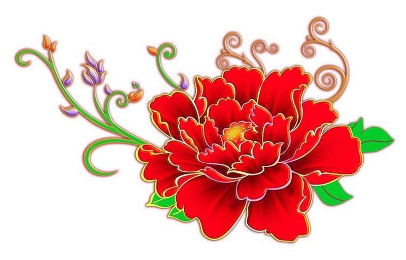 Китайские цветы рисунки и картинки006