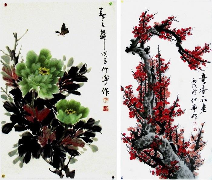Китайские цветы рисунки и картинки010