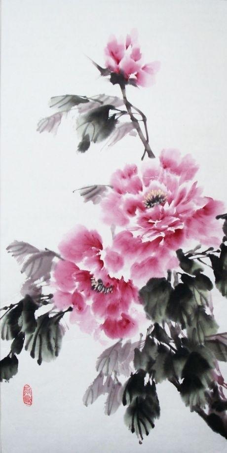 Китайские цветы рисунки и картинки011