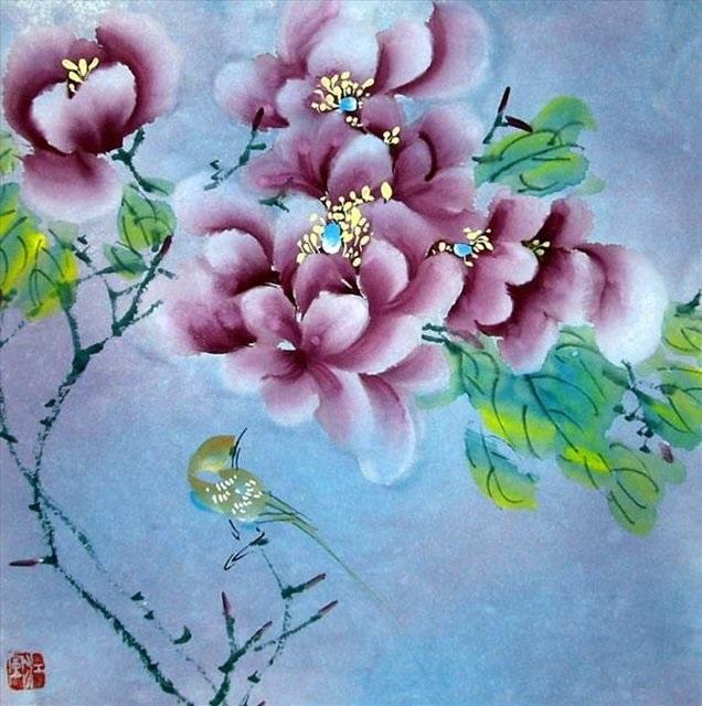 Китайские цветы рисунки и картинки013