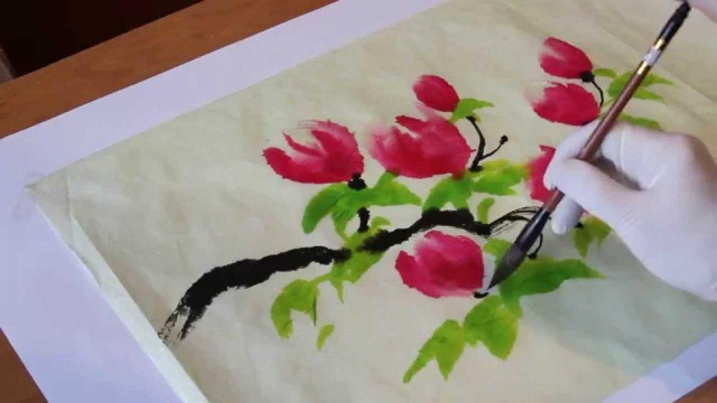 Китайские цветы рисунки и картинки018