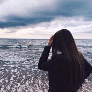 Классные картинки для девушек со спины на аватарку008