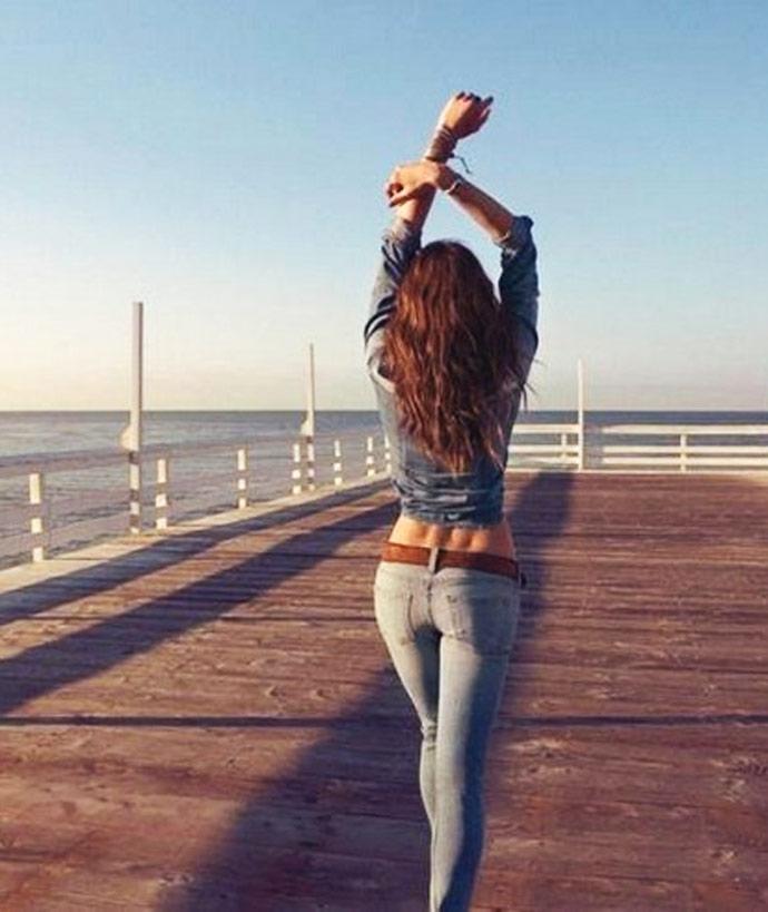Классные картинки для девушек со спины на аватарку014