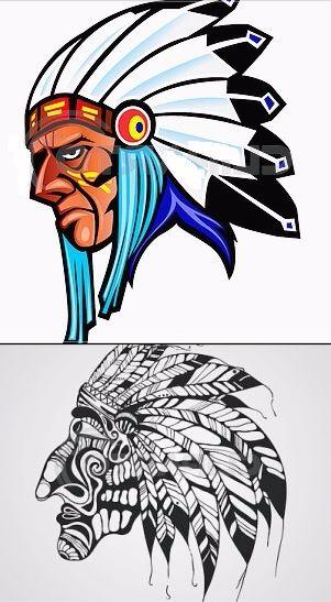 Классные эскизы индейцы - подборка картинок (11)
