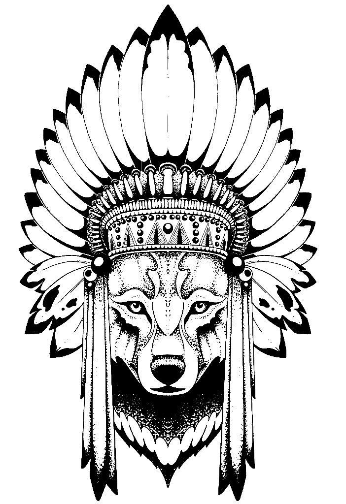 Классные эскизы индейцы   подборка картинок (12)
