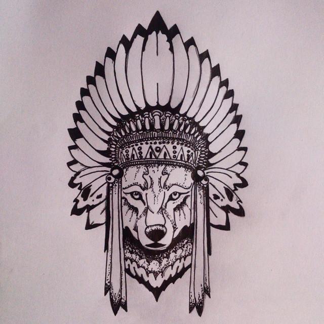 Классные эскизы индейцы - подборка картинок (13)