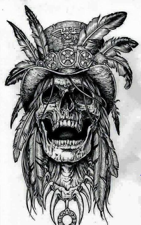 Классные эскизы индейцы - подборка картинок (14)