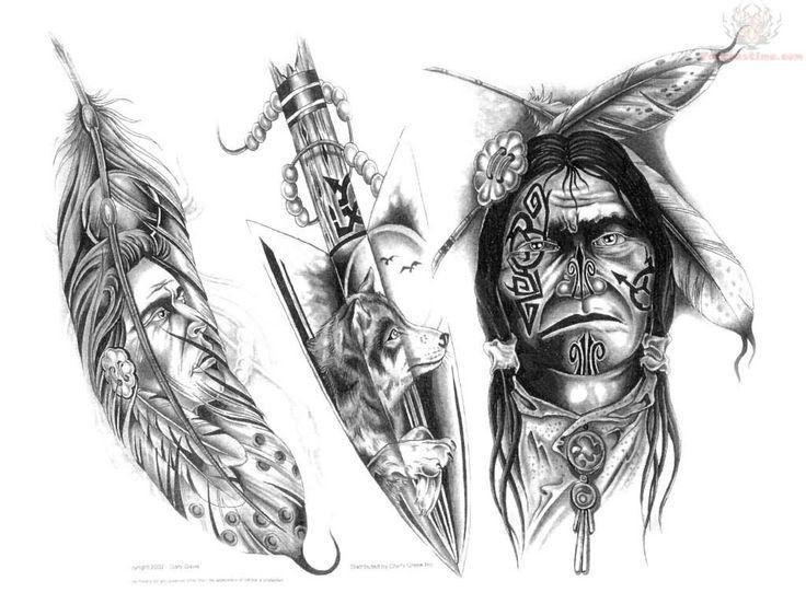 Классные эскизы индейцы - подборка картинок (18)