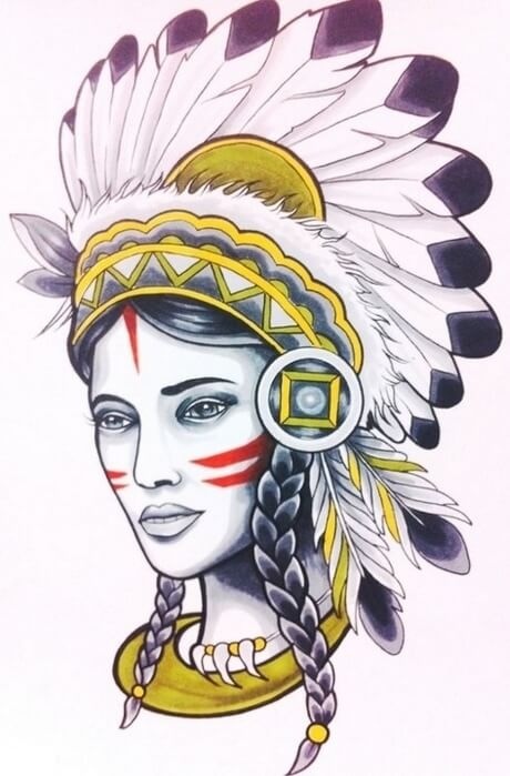 Классные эскизы индейцы - подборка картинок (2)