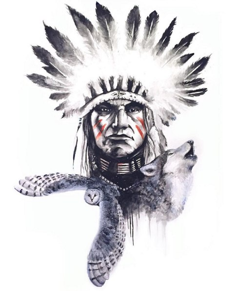 Классные эскизы индейцы - подборка картинок (4)