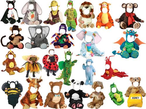 Клипарт животные для детей на прозрачном фоне - сборка (1)