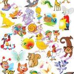 Клипарт животные для детей на прозрачном фоне — сборка