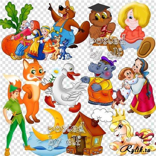 Клипарт животные для детей на прозрачном фоне - сборка (5)