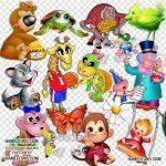 Клипарт животные для детей на прозрачном фоне