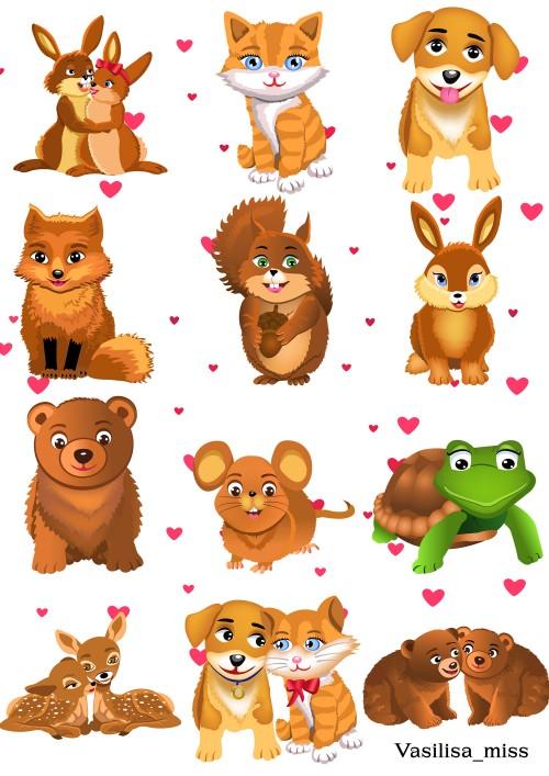Клипарт животные для детей на прозрачном фоне (33)