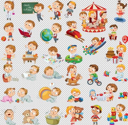 Клипарт животные для детей на прозрачном фоне (34)