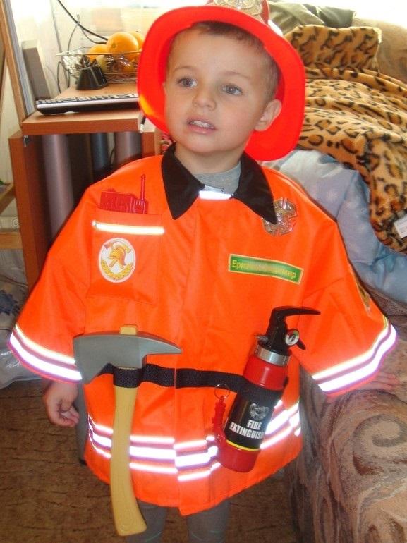 Костюм пожарника для детей своими руками001