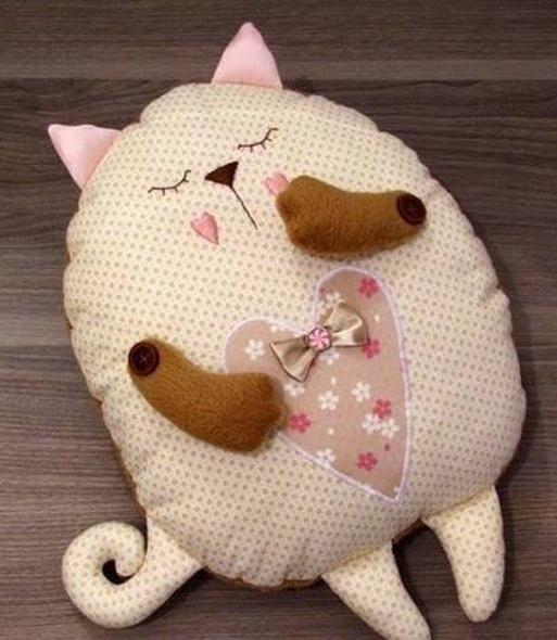 Кот из ткани своими руками выкройки002