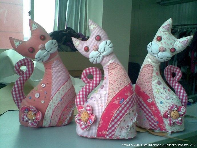 Кот из ткани своими руками выкройки006
